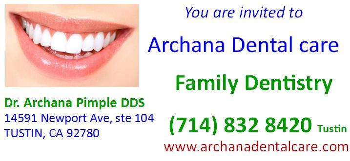 Dr. Archana Pimple DDS MMLA Website scrolling Ad